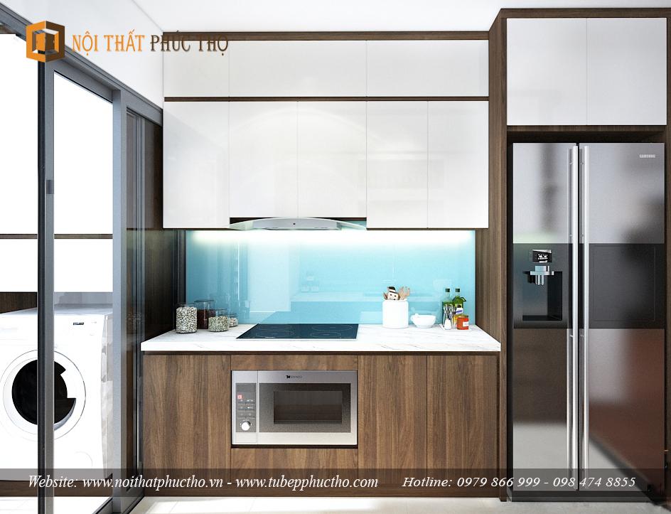 tủ bếp bằng chất liệu Laminate