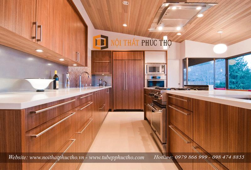 Tủ bếp gỗ dổi giá bao nhiêu
