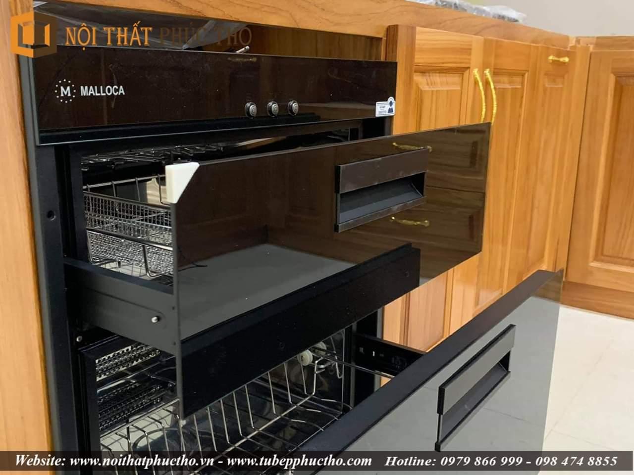 Tủ bếp gỗ gõ đỏ giá bao nhiêu