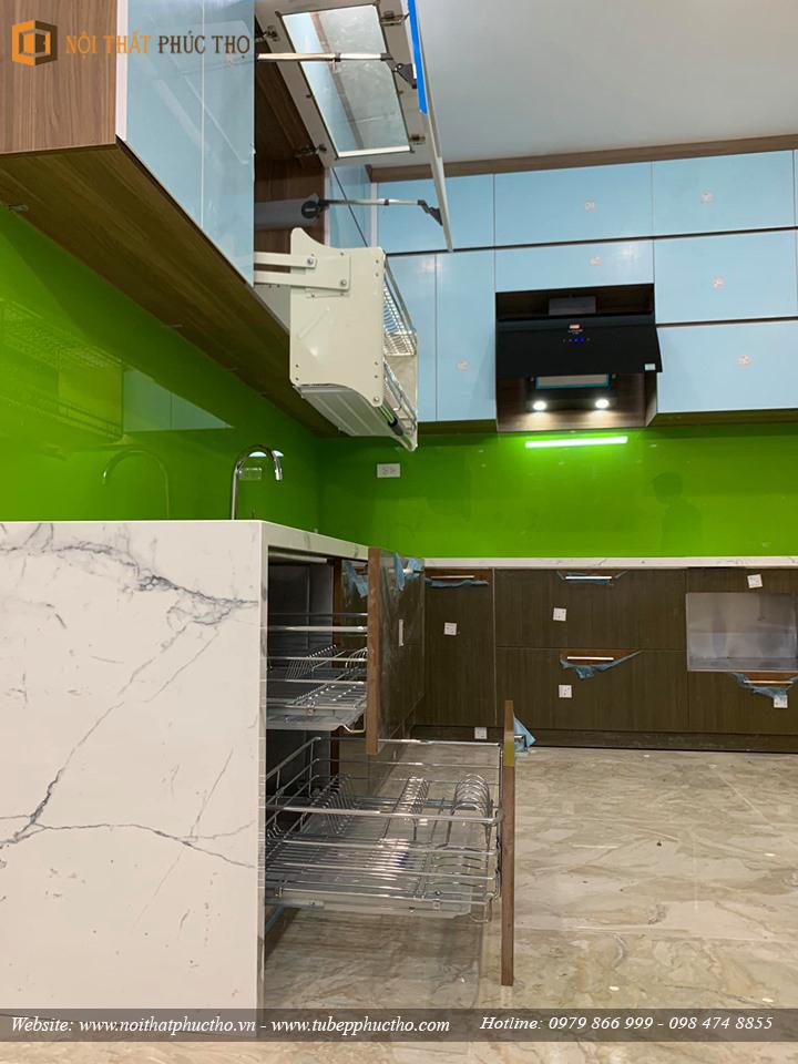 Tủ bếp Acrylic bóng gương An Cường nhà anh Lâm Tại Vincom Shophouse Hòa Bình 03
