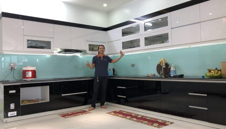 Tủ Bếp Acrylic Bóng Gương – Nội Thất Phúc Thọ hoàn thiện gia đình anh May – Phù Cừ – Hưng Yên