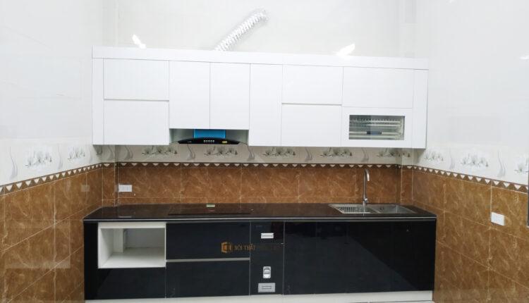 Bàn GiaoTủ bếp Acrylic bóng gương tại nhà anh Dũng – Mỹ Điền – Bắc Giang | Nội Thất Phúc Thọ
