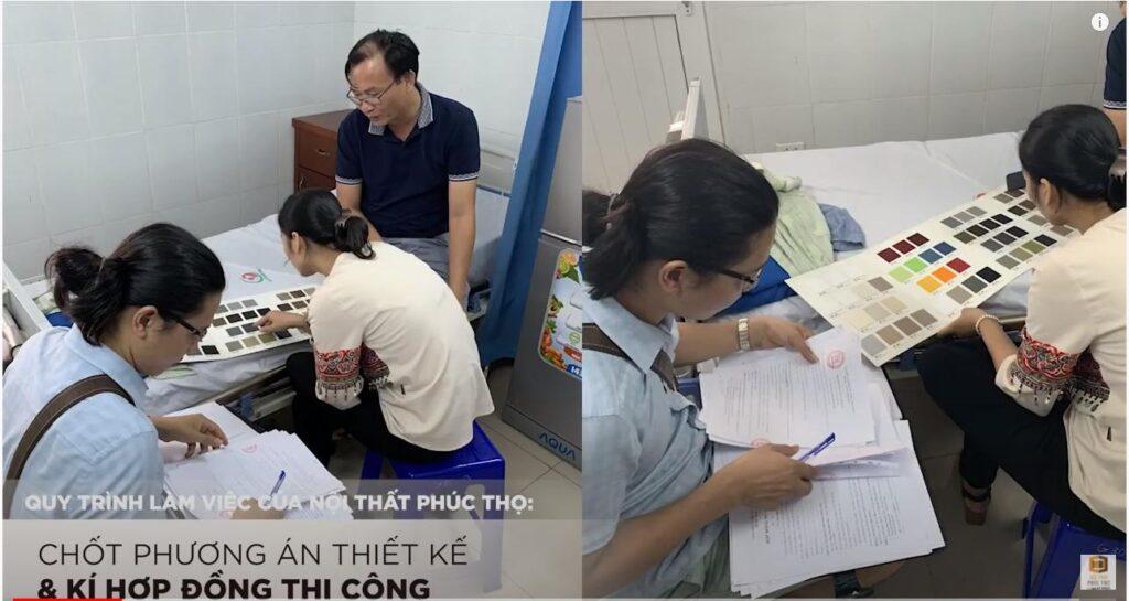Chốt phương án thiết kế và ký hợp đồng thi công